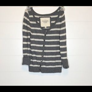 Abercrombie & Fitch Striped Sweater Cardigan